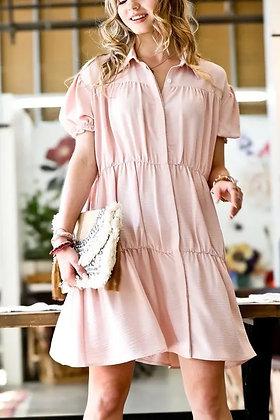 Rosebud Cap Sleeve Dress