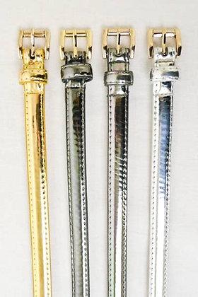 Shiny Metallic Skinny Belt