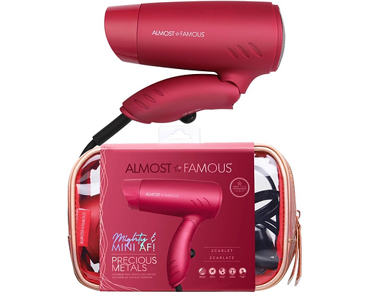 Mini Travel Dryer with Holotone Carrying Bag