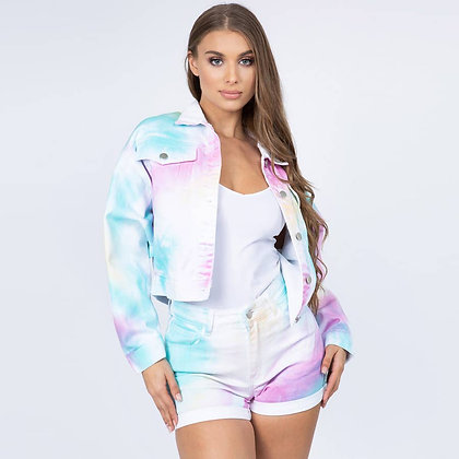Calm after the Storm (Rainbow Denim Jacket)