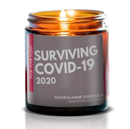 COVID-19 2020 Soy Candle Memorabilia - Sugared Lemon