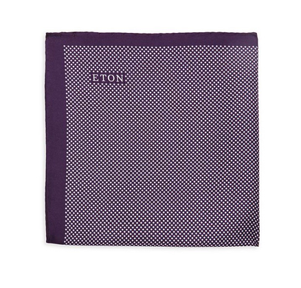 Eton - Dot Print Silk Pocket Square