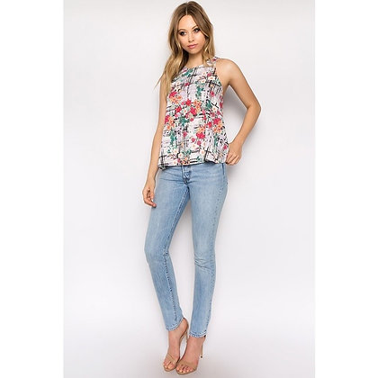 The Sunny Sleeveless Top in an Exclusive Print