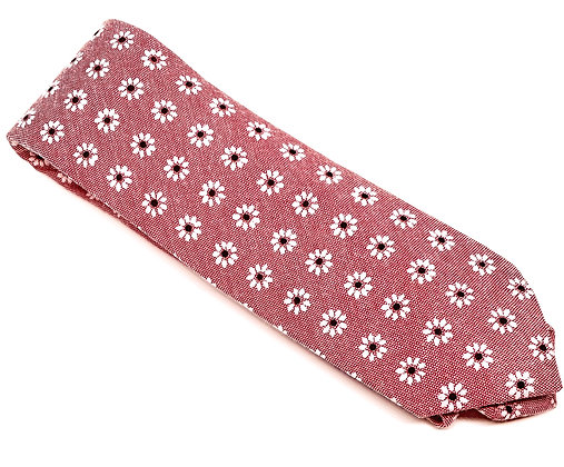Daisy Chain Skinny Tie Collection-Red