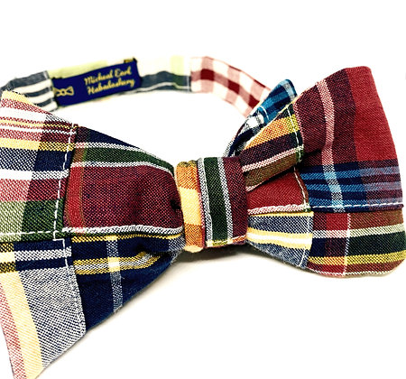 Custom Made Madras Bowtie (Reversible)
