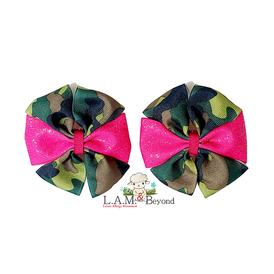 Pink Camouflage (No Tag) Includes 2 Bows