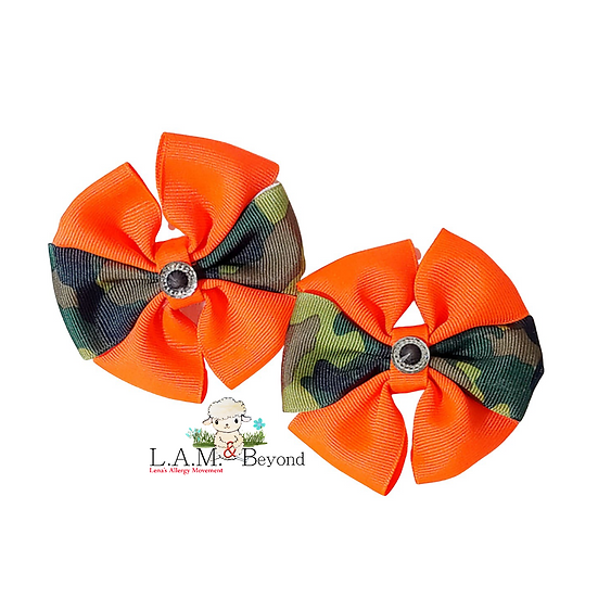 Orange Camouflage (No Tag) Includes 2 Bows