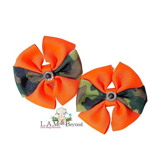 Orange Camouflage (No Tag) Includes 2 Bows