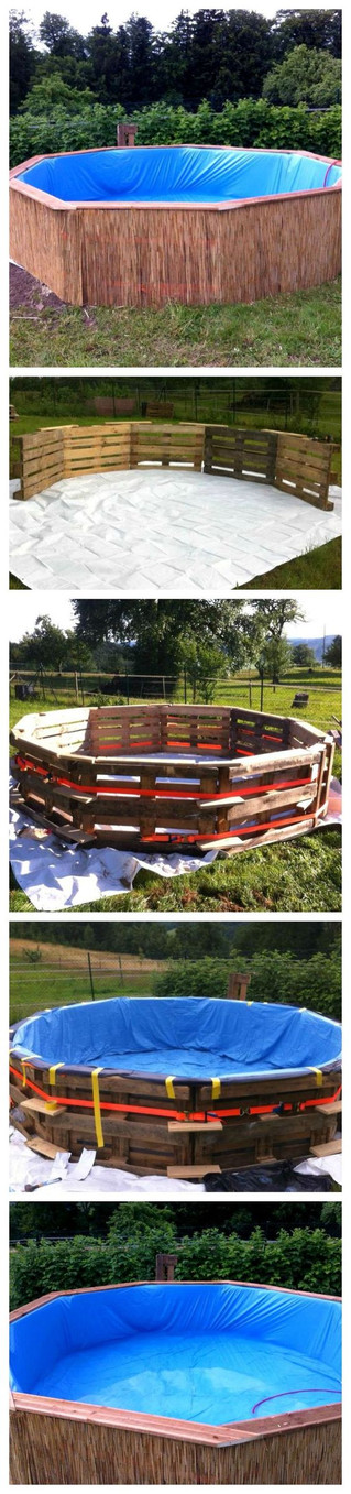 Build a Pallet Swimming Pool This Summer