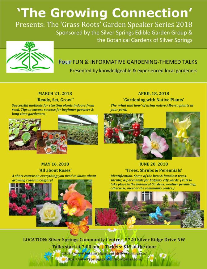 Garden Speaker Series 2018 - The Growing Connection