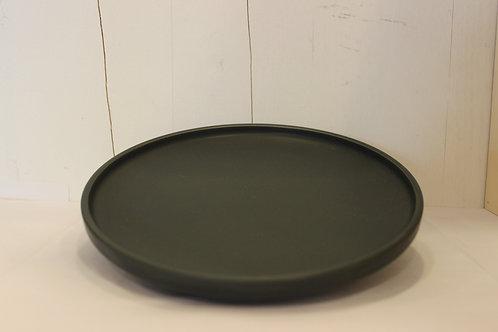 Frühstücksteller uni dunkel grau