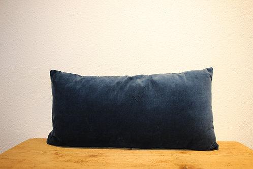 Samtkissen dunkelblau