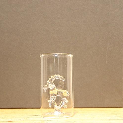 Schnapsglas Steinbock klar