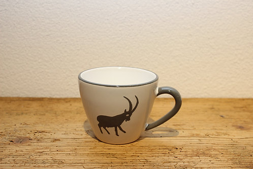Kaffeetasse Steinbock grau