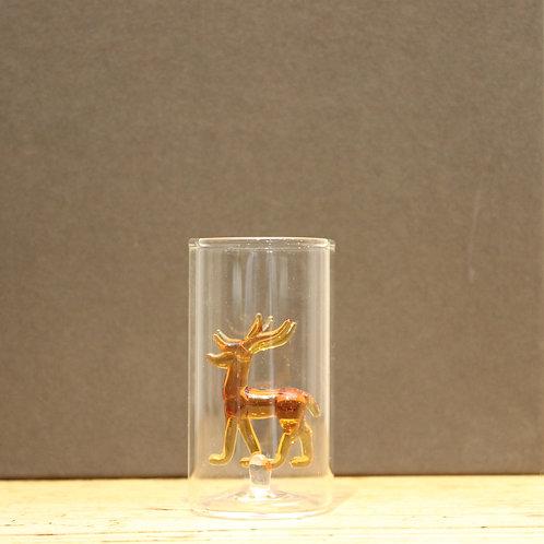 Schnapsglas Hirsch eingefärbt