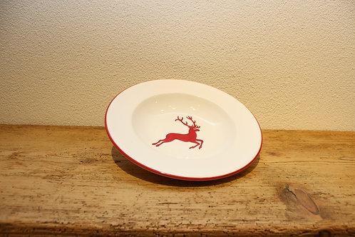 Suppenteller Hirsch rot