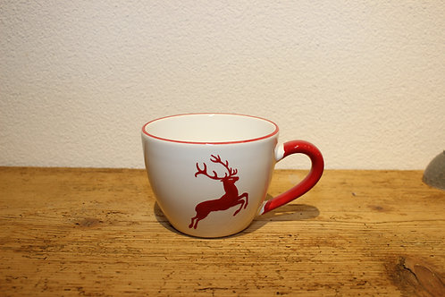 Kaffeetasse Hirsch rot