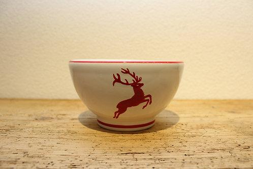 Müslischale gross Hirsch rot