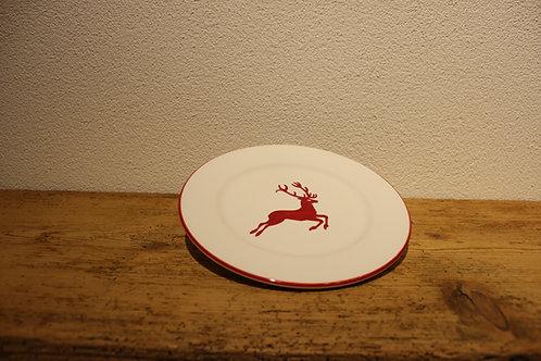 Dessertteller Hirsch rot