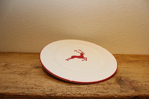 Speiseteller Hirsch rot