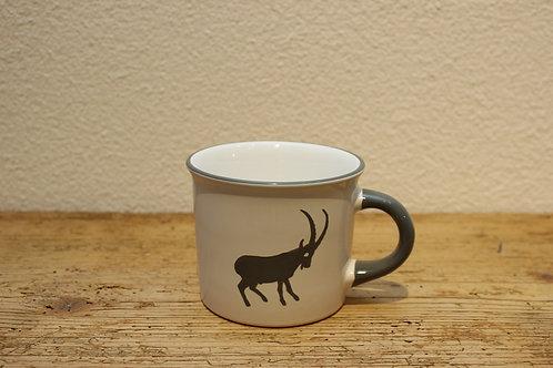 Kaffeehäferl Steinbock grau