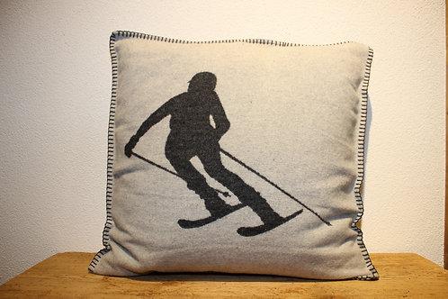 Kissen Skifahrer