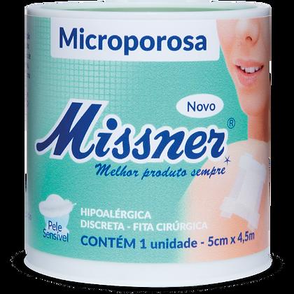 Fita Microporosa Branco Missner 5cm x 4,5m