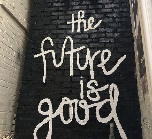 the future is here grafiti art