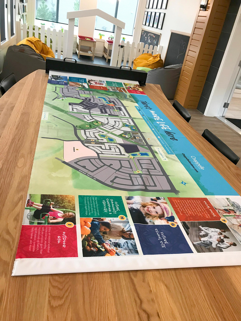 Chappelle Gardens Show Home Village Map Table
