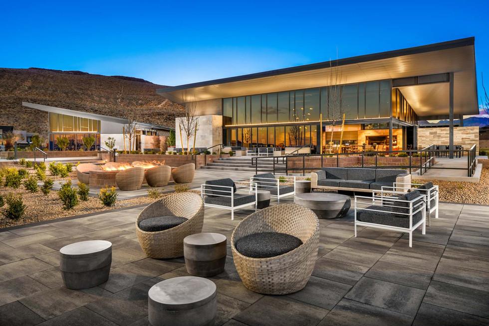 1-Mesa Ridge-Rec Center_Exterior Twiligh