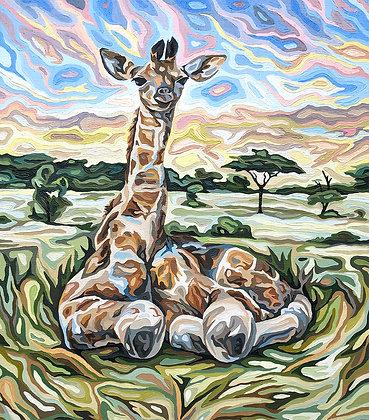 "Baby Giraffe, 14"" x 16"""