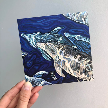 """Come With Us, 4"""" x 4"""" postcard"""