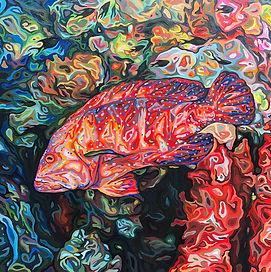 For web. - Miniatus Grouper, oil on wood panel, 24 x 24 in, 61 x 61 cm.jpg