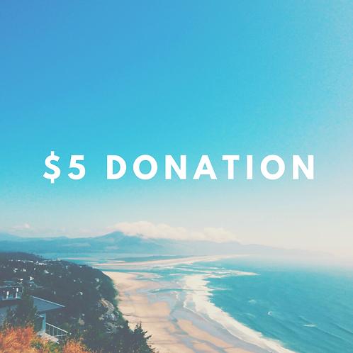 $5 Donantion