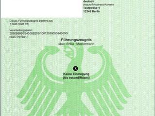 Traducción jurada español < > alemán de tu certificado de antecedentes penales