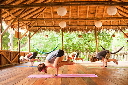 Yoga studio in Ecuador