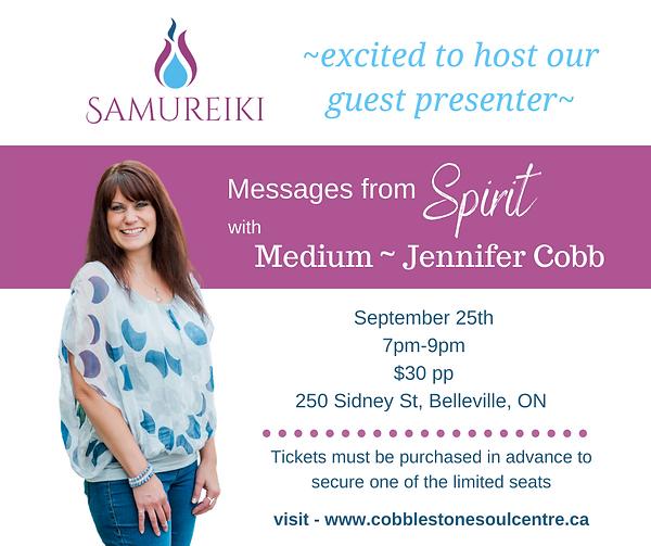 Sept.25th - Messages from Spirit - Samur