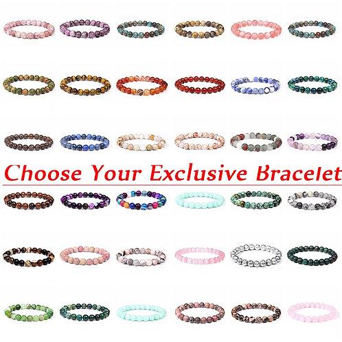 Crystal beaded stretch bracelets