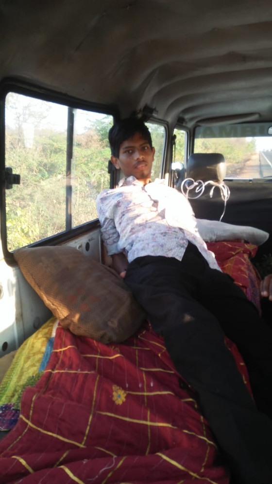 This is Abijit, age 18.  He is suffering from Ankylosing Spondylitis disease