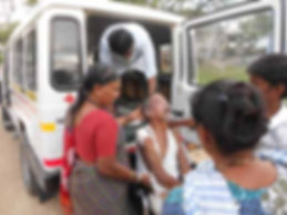 Sanjeevini Ambulance taking patients to hospitals