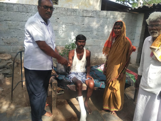 This is Hanumantha from a poor family.