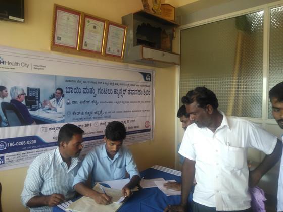 Narayana Health Free Cancer Check-up Camp at Care and Cure Hospital Sirwar