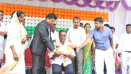 Gnanmithra was honored for his extraordinary social work.