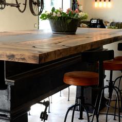cuisine-manufacture-industrielle-vieux chêne-massif