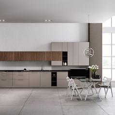 Cuisine-Linea-quattro-Technika-regula-gris-mat-bois-grainwood