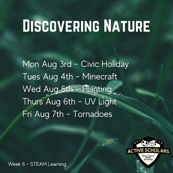 Week 6 | S.T.E.A.M. + Multisport | August 4 to 7