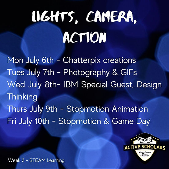 Week 2 | S.T.E.A.M. + Multisport | July 6 to 10