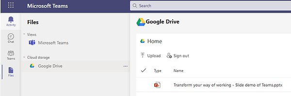 Teams working with files in Google Drive