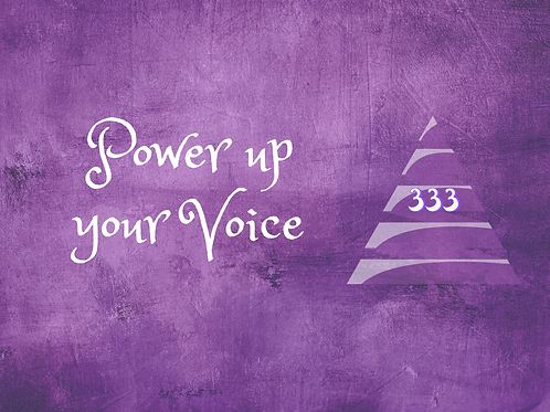 Power Up Your Voice