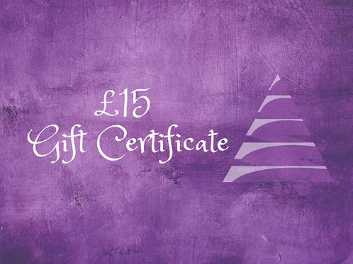 Gift e-Certificate - £15